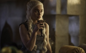 Picture Actress, The series, screenshot, Cup, Game of Thrones, Game of thrones, Emilia Clarke, Emilia Clarke, …