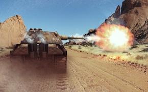 Picture shot, WoT, mountains, Panther, Wargaming.net, World of Tanks, tanks, tank, PzKpfw V Panther