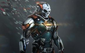 Picture fiction, robot, mask, helmet, armor, Chronos