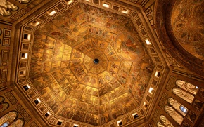 Picture Florence, architecture, religion, the gates of Paradise, baptism, Imply, the baptistery