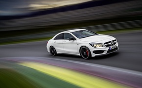 Picture Speed, Mercedes, Benz, Car, Car, Speed, AMG, CLA 45