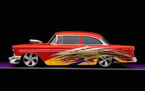 Picture retro, tuning, Bel Air, Chevy, Custom, 1956