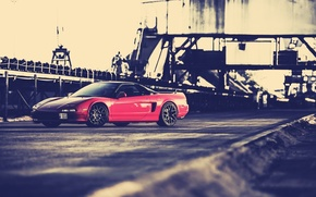 Picture car, red, honda nsx