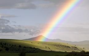 Wallpaper Oregon, rainbow, Mitchell, USA