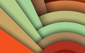 Picture Android, Circles, Design, 5.0, Line, Colors, Lollipop, Stripes, Abstraction, Material, Hemicycle