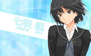 Picture anime, art, girl, schoolgirl