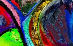 Picture paint, color, texture, chaos