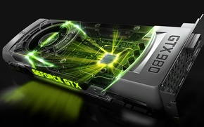 Wallpaper GTX, Nvidia, GeForce, video card, 980