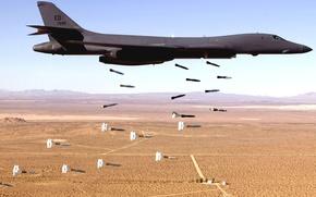 Wallpaper bomber, flight, bombs, the plane, exercises, B-1