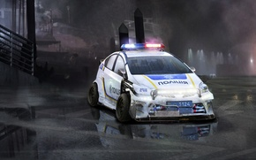 Picture wet, auto, fog, tuning, figure, police, puddle, toyota, police, hybrid, Toyota, ukraine, paint, cop, cops, …