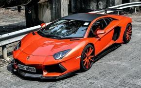 Picture machine, red, Lamborghini, Lamborghini Aventador