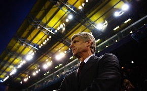 Wallpaper football, coach, Arsene Wenger, Arsenal
