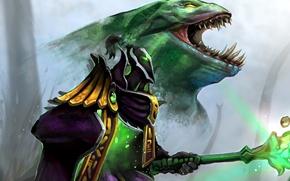 Picture art, staff, Dota 2, Leviathan, Rubick, Tidehunter, Grand Magus, Daviddleonluis