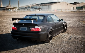 Picture black, tuning, BMW, BMW, black, E46