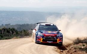 Picture Dust, Sport, Race, Citroen, Skid, Citroen, DS3, WRC, Rally, Rally, Sport