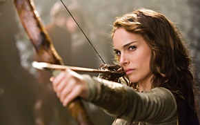 Wallpaper the film, actress, bow, Natalie Portman, Isabel Your Highness, brave pepper