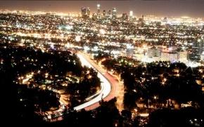 Picture night, lights, street