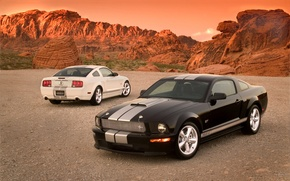 Wallpaper gravel, shelby gt, desert, rocks