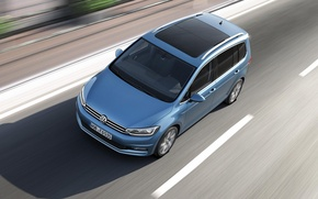 Picture blue, Volkswagen, highway, Shadow, Volkswagen, van, MPV, unveiled, Touran