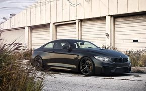 Picture BMW, Car, Front, Black, Coupe, Matte, Wheels, Ligth