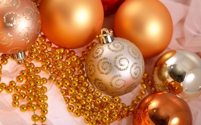 Wallpaper holiday, new year, beads, new year, holiday, Christmas balls