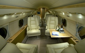 Picture the plane, champagne, salon, Bakaly