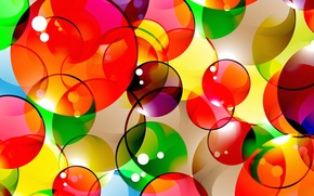 Picture bubbles, background, colorful, abstract, bubbles, background