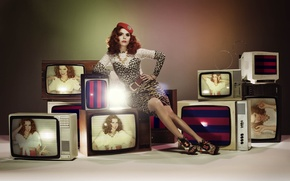 Picture Redhead, Singer, Television Set, Paloma Faith