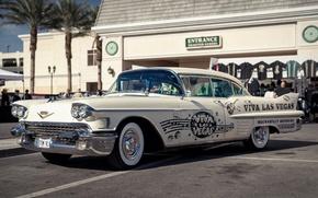 Wallpaper retro, Cadillac, classic, 1958