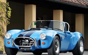 Picture blue, retro, Roadster, Ford, Ford, Cobra, Roadster, Cobra