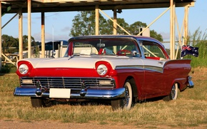 Picture coupe, Ford, Ford, exhibition, Hot, coupe, 1957, rod, at the Twilight, Show, Rod, hot, Fairlane