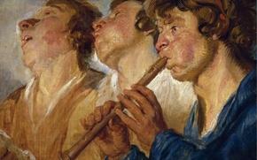 Picture picture, genre, Jacob Jordaens, Wandering Musicians