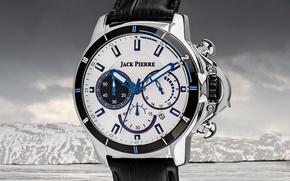 Picture white, blue, watch, jack pierre