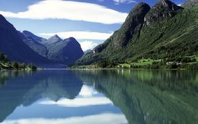 Wallpaper Norway, Water, Mountains