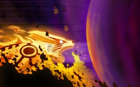 Wallpaper magic, ball, anime, the demon, art, naruto, guy, nine-tailed, naruto, kyuubi, Uzumaki naruto, marxedp