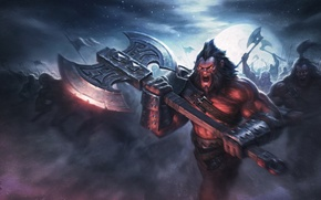 Wallpaper dota 2, axe, art, Axe, warrior, army