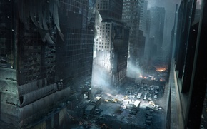 Picture the city, building, soldiers, new York, Tom Clancy's The Division