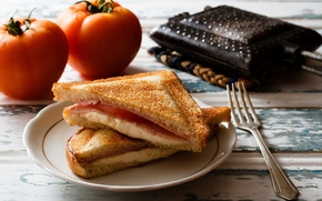Picture food, cheese, bread, tomatoes, sandwiches, ham