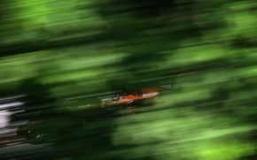 Wallpaper green, race, speed, formula 1