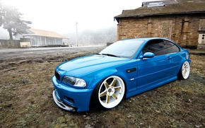 Picture BMW, blue, tuning, E46