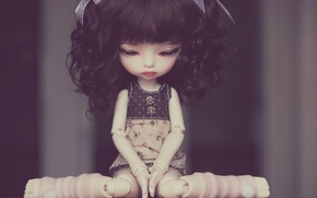 Picture sadness, pose, mood, hair, toy, doll