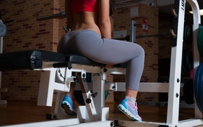 Wallpaper girl, style, figure, the gym