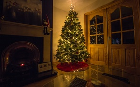 Wallpaper house, holiday, tree
