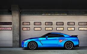Picture car, blue, Nissan, rechange, nissan gt-r