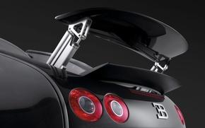 Wallpaper Veyron, spoiler, Bugatti
