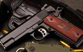 Picture gun, weapons, cartridges, 1911, Nighthawk, ranger Belt, Heinie, Gun Gallery, pdp