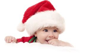 Picture joy, holiday, child, cap, blue-eyed