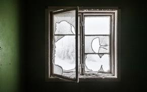 Picture winter, room, window