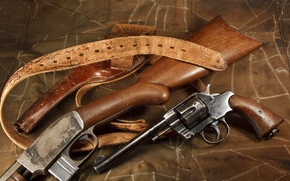 Picture weapons, revolver, rifle