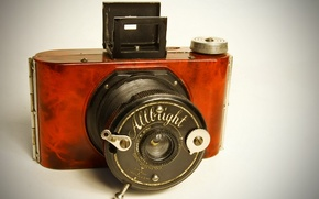 Picture macro, background, Allbright Vintage Camera